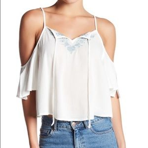 Abound Embroidered Cold Shoulder Tank